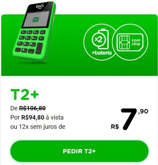 Maquininha de Cartão da Ton - T2+