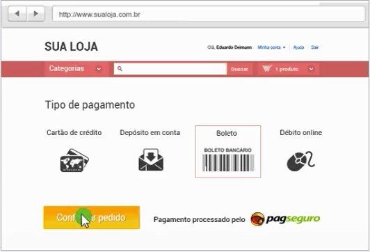 Checkout do PagSeguro